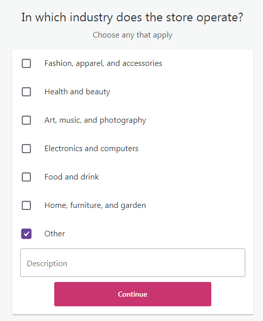 woocommerce industry option