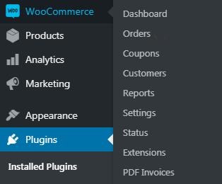 WooCommerce PDF menu